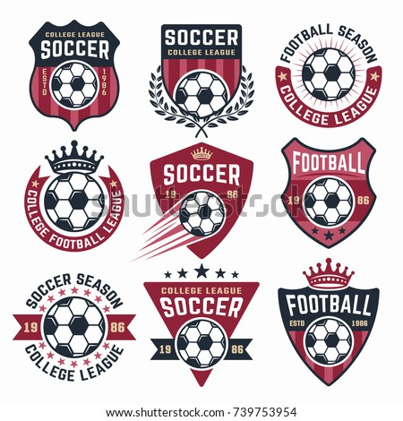 football vector collection of...