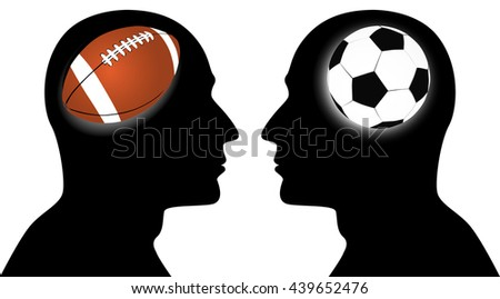 football vs soccer sports game