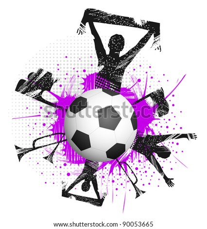 Football with fans and attributes of football
