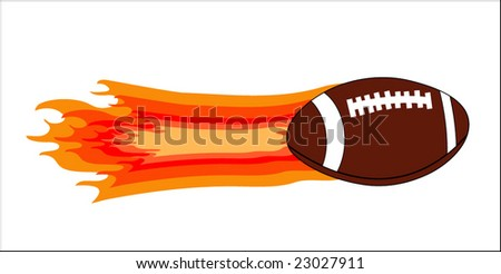 football with flame