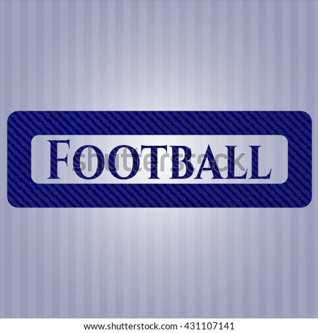 Football with jean texture