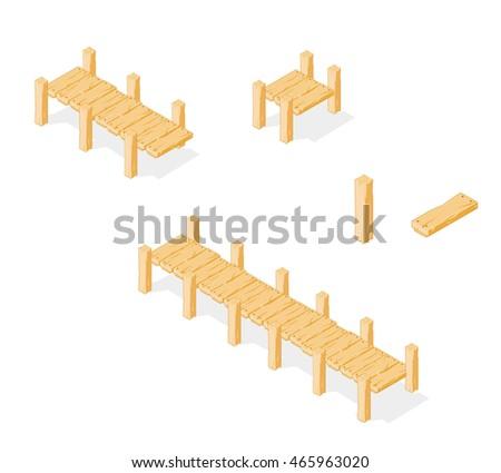 footbridge wooden bridge icon