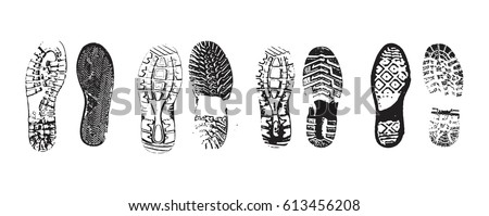 Shutterstock footprint isolated on a white background. vector illustration