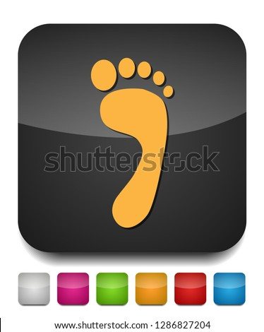 footprint symbol, vector foot print illustration - human foot print sign