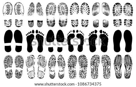 footprints human shoes