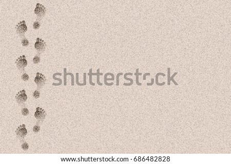 footprints in the sand design