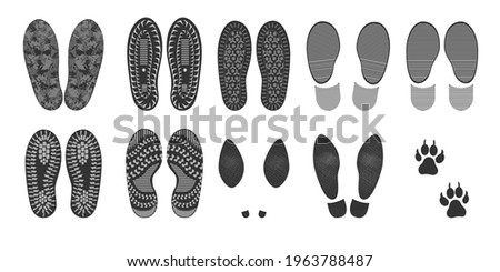 footprints of human shoes