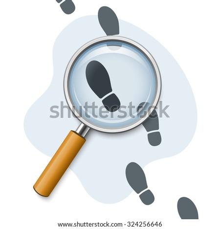 Footprints through a magnifying glass
