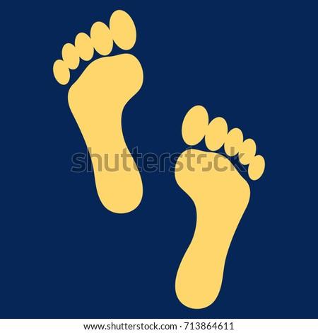 footprints vector icon flat