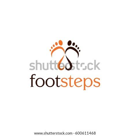 footsteps vector logo