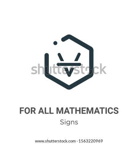 For all mathematics symbol vector icon on white background. Flat vector for all mathematics symbol icon symbol sign from modern signs collection for mobile concept and web apps design.