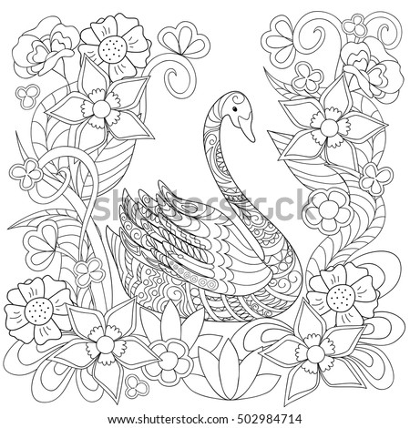 for coloring book hand drawn