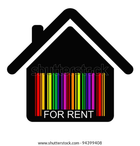 for rent HOUSE BAR CODE , vector