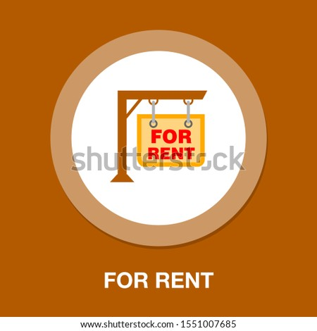 for rent sign. For rent sign board. rented car, apartment or house, rental property, real estate concept