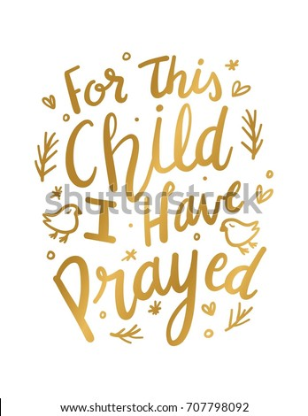 For This Child I have Prayed Wall Art | EZ Canvas