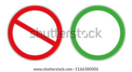 prohibition sign template download free vector art stock graphics