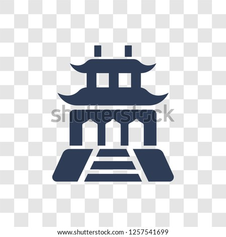 Forbidden city icon. Trendy Forbidden city logo concept on transparent background from Architecture and Travel collection