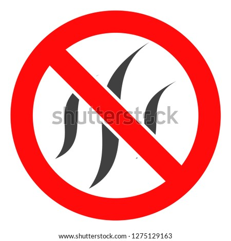 Forbidden flavors vector icon symbol. Flat pictogram is isolated on a white background. Forbidden flavors pictogram designed with simple style.