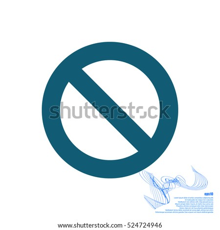 Forbidden sign isolated stock vector icon illustration