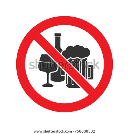 forbidden sign with alcohol