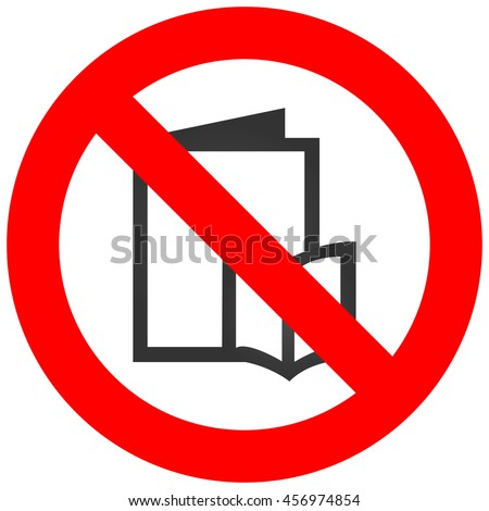 forbidden sign with book icon