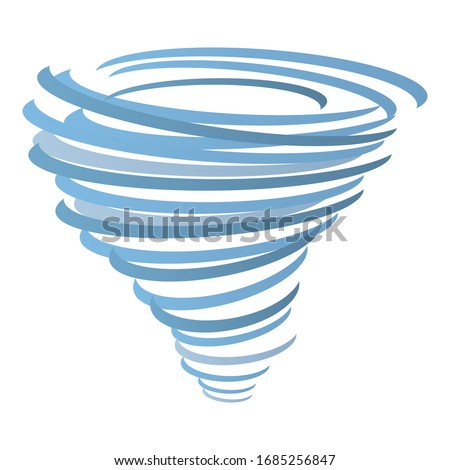 Force tornado icon. Cartoon of force tornado vector icon for web design isolated on white background