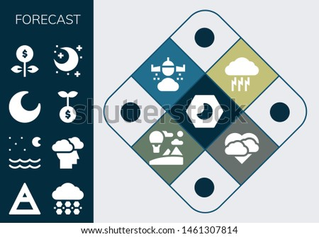 forecast icon set 13 filled