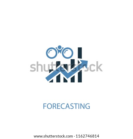 forecasting concept 2 colored icon. Simple blue element illustration. forecasting concept symbol design from Business intelligence set. Can be used for web and mobile UI/UX