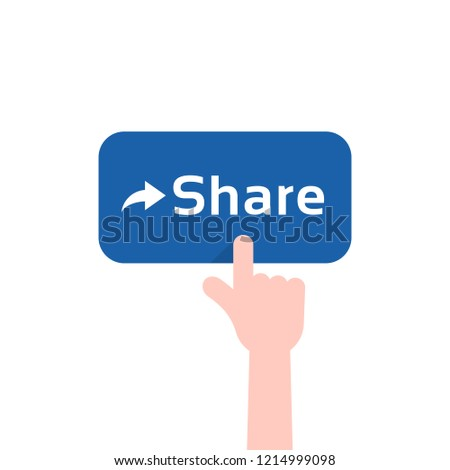 forefinger press on blue share