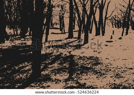 forest air landscape  vintage