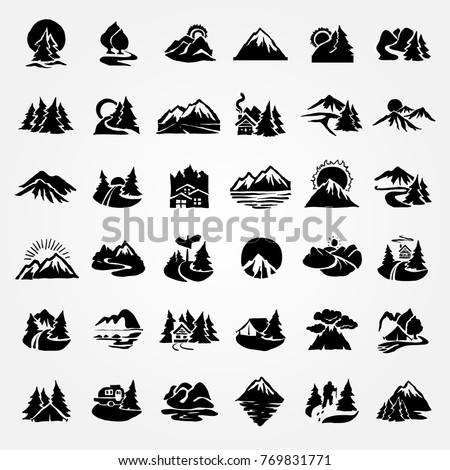 forest and mountain icon