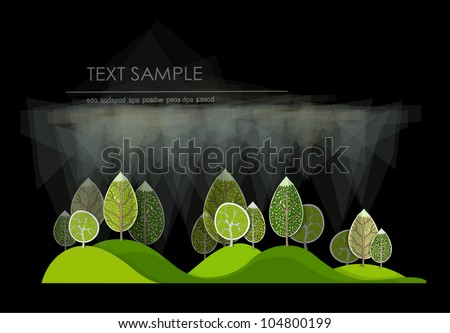 forest and rain background