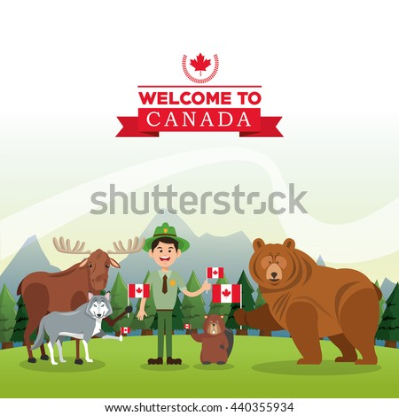 forest animals canada icon