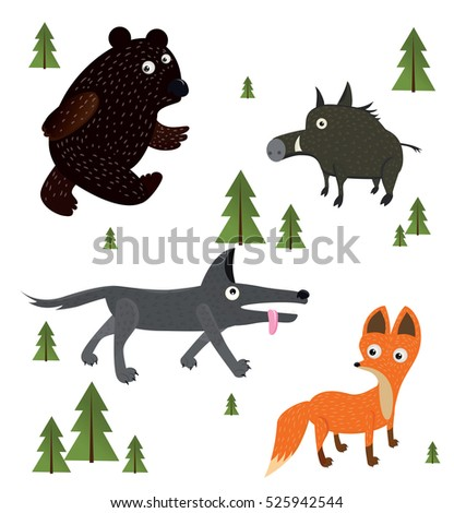forest animals illustration