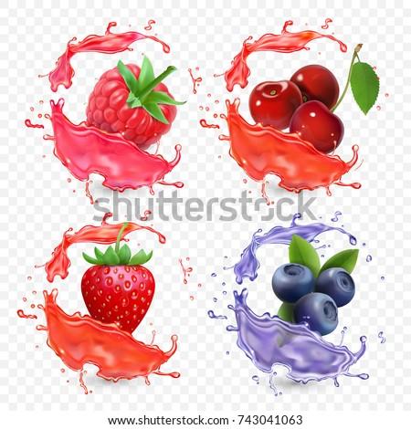 forest berries juice splash