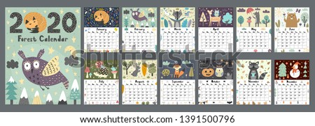 forest calendar for 2020 year