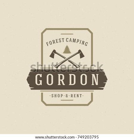 forest camping logo emblem