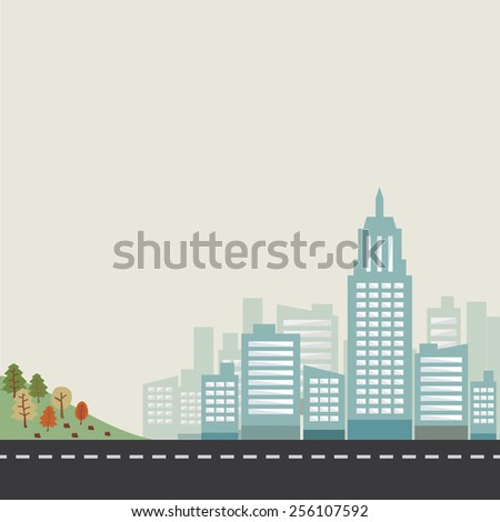 forest  city and road