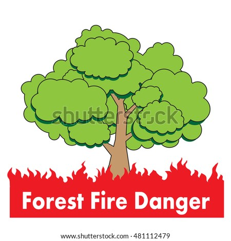 forest fire danger  vector icon