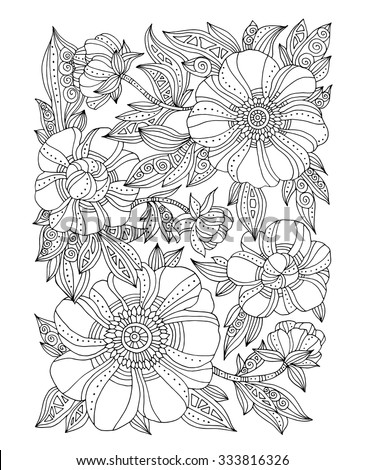 forest flowers  floral pattern
