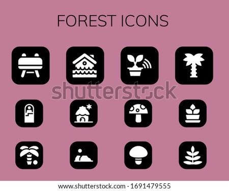 forest icon set 12 filled