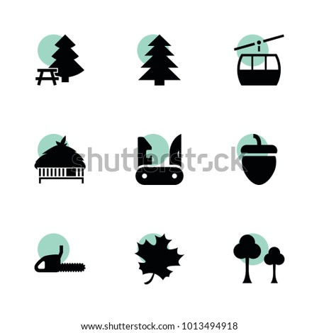 forest icons vector collection