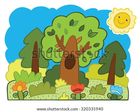 forest illustration in the