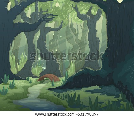 forest landscape with trees