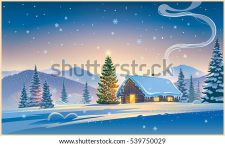forest landscape with winter