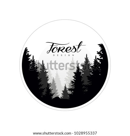 forest logo design template