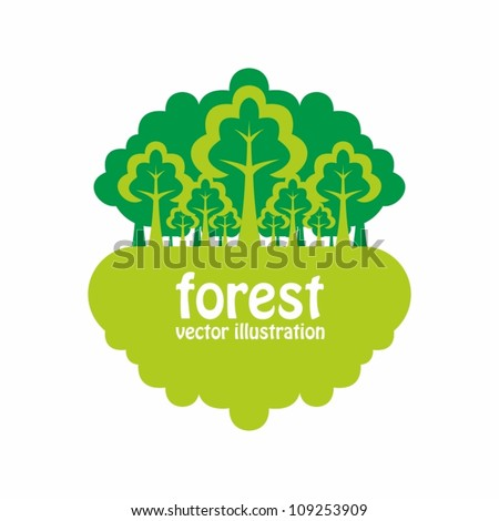 Forest. Nature background with green trees