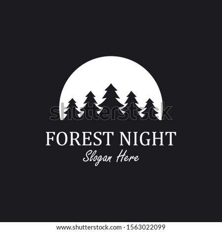 forest night logo inspiration