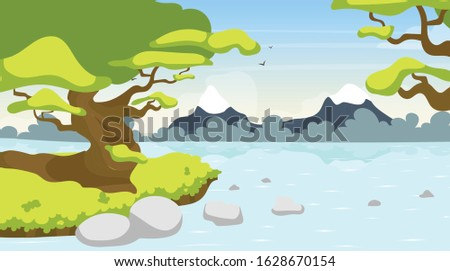 forest river flat vector