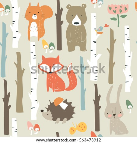 forest seamless background with